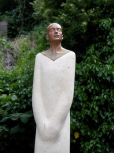 Whannell_ Silent Words, bronze and limestone